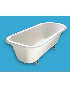 Yoki - Traditional 1525mm Freestanding Clawfoot Bath WHITE OR IVORY INTERNAL, WHITE, IVORY, BURGUNDY, BLACK, GREEN, EXTERNAL