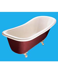 Yoki - Traditional High Back 1760mm Freestanding Clawfoot Bath WHITE OR IVORY INTERNAL, WHITE, IVORY, BURGUNDY, BLACK, GREEN, EXTERNAL