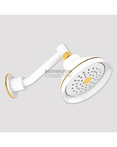 Conserv - Paddington/Upswept Arm Shower WHITE/GOLD
