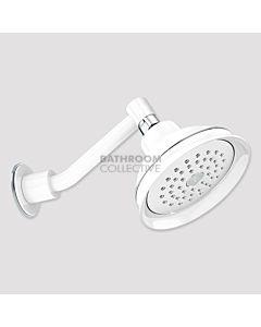 Conserv - Paddington/Upswept Arm Shower WHITE/CHROME