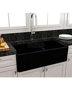 Paco Jaanson - Bocchi Casa Ceramic Kitchen Double Bowl Butler Sink 850mm GLOSS BLACK