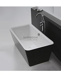 Broadway - Palermo 1700mm Freestanding Acrylic Bath GLOSS BLACK & WHITE