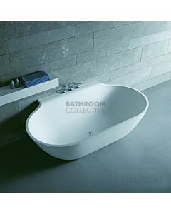 Gallaria - Varese Cast Stone Solid Surface Back To Wall Bath 1715mm