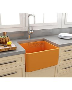 Paco Jaanson - Bocchi Casa Ceramic Kitchen Butler Sink 500mm GLOSS TANGERINE