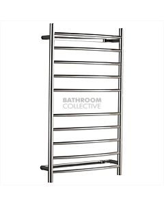 Hotwire - Curved 10 Bar Round Towel Rail Ladder 1000H x 600W x 140D