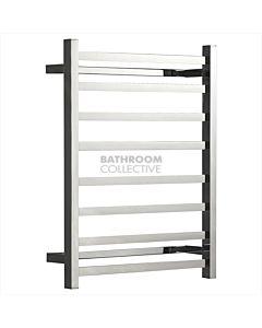 Hotwire Heating - 8 Bar Square Heated Towel Rail 700H x 530W x 122D