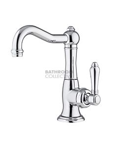 Nicolazzi - 3452 Basin Mixer with Traditional Spout in Chrome with El Capitan Handle