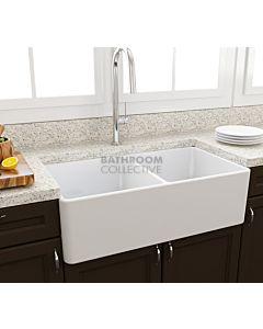 Paco Jaanson - Bocchi Casa Ceramic Kitchen Double Bowl Butler Sink 850mm GLOSS WHITE