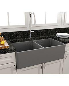 Paco Jaanson - Bocchi Casa Ceramic Kitchen Double Bowl Butler Sink 850mm MATTE GREY