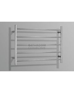 Linsol - Allegra 5 Bar Heated Towel Rail, 420mm (H) x 628mm (W) x 94.6mm (D)