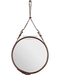 Gubi - Adnet Tan Leather Circular Wall Mirror 45cm