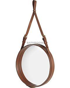 Gubi - Adnet Tan Leather Circular Wall Mirror 58cm