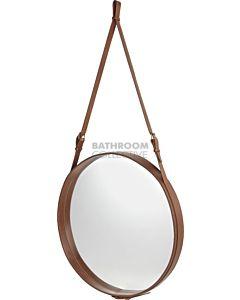 Gubi - Adnet Tan Leather Circular Wall Mirror 70cm