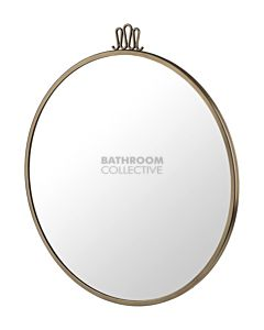 Gubi - Randaccio Wall Mirror 60cm in Vintage Brass