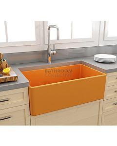Paco Jaanson - Bocchi Casa Ceramic Kitchen Butler Sink 750mm GLOSS TANGERINE