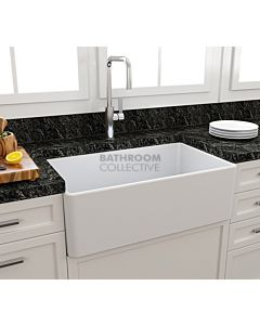 Paco Jaanson - Bocchi Casa Ceramic Kitchen Butler Sink 750mm GLOSS WHITE