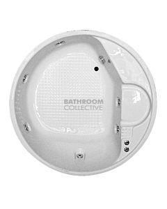 Broadway - Lucena 1530mm Island Acrylic Bath WHITE