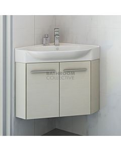 Timberline - Lisbon 510mm Wall Hung Corner Vanity with Ceramic Top