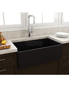 Paco Jaanson - Bocchi Casa Ceramic Kitchen Butler Sink 750mm MATTE BLACK