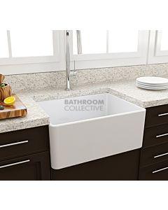 Paco Jaanson - Bocchi Casa Ceramic Kitchen Butler Sink 600mm GLOSS WHITE