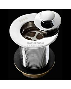 Harbic Brassware - 32MM Tapered Basin Waste with Anello Stopper 80mm Tail