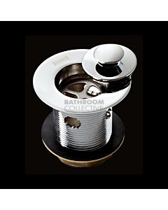 Harbic Brassware - 32MM Overflow Basin Waste with Anello Stopper 80mm Tail