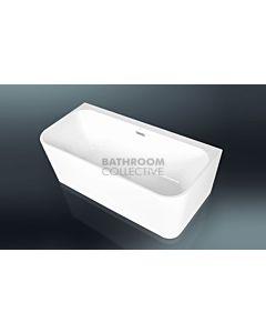 Paco Jaanson - 1500mm Freestanding Deep Acrylic Back to Wall Bath Tub GLOSS WHITE