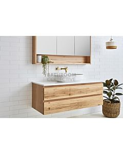 Loughlin Furniture - Avoca 600mm Real Timber Wall Hung Vanity