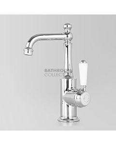 Astra Walker - Olde English Signature Basin Mixer CHROME/WHITE HANDLE A50.03.V2.PL