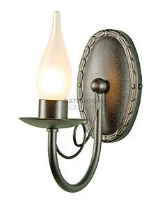 Elstead - Minster 1 Light Traditional Bathroom Wall Light in Light Black