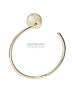 Bastow Tapware - Georgian Towel Ring BRASS GOLD