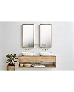 Loughlin Furniture - Baxter 1500mm Real Timber Wall Hung Double Bowl Vanity