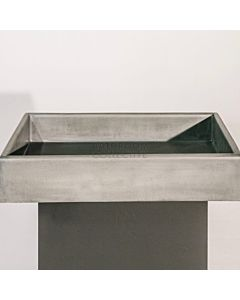 Noodco - Box Concrete Basin in Mid Tone Grey