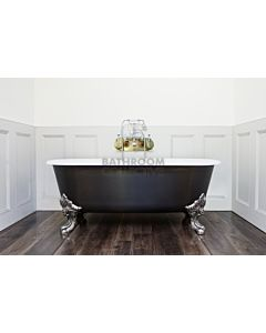 Chadder - Blenheim Double Ended Clawfoot Bath with Carbon Fibre Wrap Exterior 1740mm (Handmade in UK)