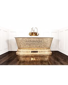 Chadder - Windsor Luxury Bath with Pure Gold Style Mosaic Exterior 1620mm (Handmade in UK)