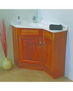Showerama - Executive Custom Corner Timber Vanity 910 x 610mm, 2 Doors  Polymarble Top