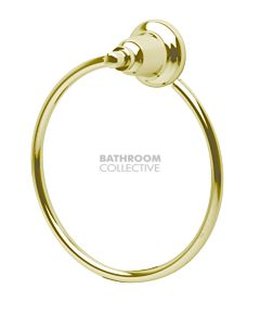 Bastow Tapware - Federation Towel Ring BRASS GOLD