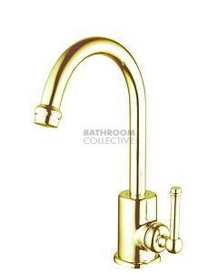 Bastow Tapware - Federation Basin Mixer BRASS GOLD