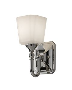 Elstead - Concord 1 Light Traditional Bathroom Wall Light in Polished Chrome