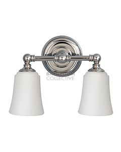 Elstead - Huguenot Lake 2 Light Traditional Bathroom Above Mirror Light in Polished Chrome