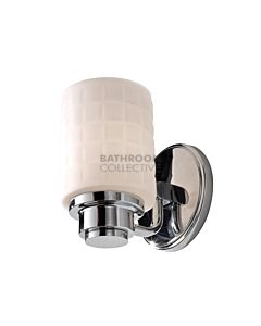 Elstead - Wadsworth 1 Light Traditional Bathroom Wall Light in Polished Chrome