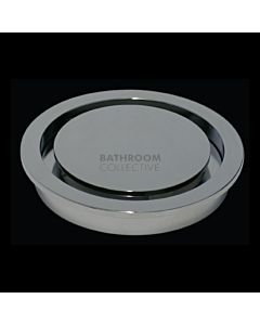 Harbic Brassware - Halo 100mm Round Trapscrew Floor Waste