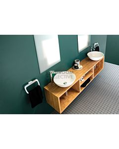 ADP - Hilton 380 Wall Hung Double Bowl Vanity 1800mm, 25mm Bamboo (basin not included)