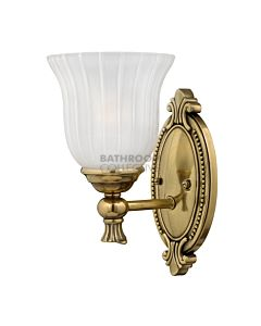 Elstead - Francois 1 Light Traditional Bathroom Wall Light in Burnished Brass
