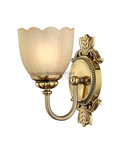 Elstead - Isabella 1 Light Traditional Bathroom Wall Light in Burnished Brass