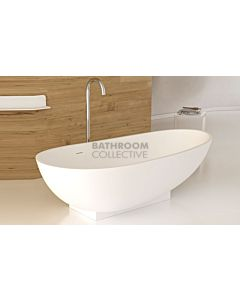 Paco Jaanson - iStone 1800mm on Plinth Freestanding Stone Bath Tub MATTE WHITE