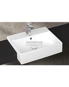 Paco Jaanson - Isvea Purita 500mm Semi-Recessed Basin 1TH Gloss White