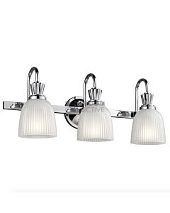 Elstead - Cora 3 Light Traditional Bathroom Wall Light in Polished Chrome