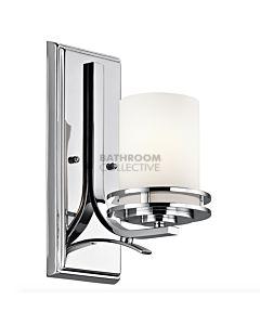 Elstead - Hendrik 1 Light Traditional Bathroom Wall Light in Polished Chrome