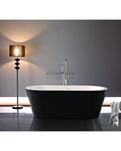 Decina - Kolora 1645mm Freestanding Lucite Acrylic Black & White Bath